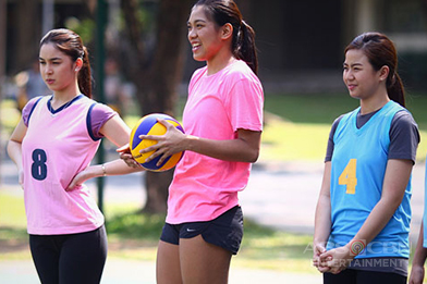 BEHIND-THE-SCENES: Miles & Julia welcome Volleyball Superstar Alyssa Valdez on the set of And I Love You So